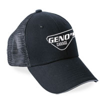 BALL CAP - GENO'S BLACK MESH