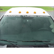 "DECAL - WINDSHIELD - ""CUMMINS TURBO DIESEL""  (54"")"