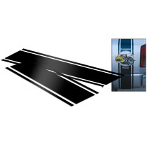 "DECAL - ""SUPER B"" STRIPE EXTENSION KIT FOR DUALLY  (BLACK, 31.5"")"